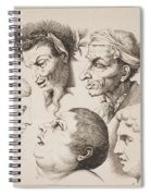 Studies Of Heads Anonimo, Blooteling Abraham Spiral Notebook