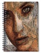 Studio Portrait In Pencil  Spiral Notebook