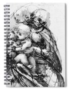 Study For A Madonna With A Cat Spiral Notebook