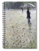 Study For A Paris Street Rainy Day Spiral Notebook
