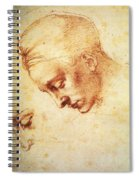 Study For The Head Of Leda Spiral Notebook