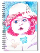 Study In Blue And Pink Spiral Notebook