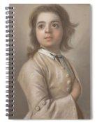 Study Of A Boy In Half Length, Jean-etienne Liotard, 1736 - 1738 Spiral Notebook