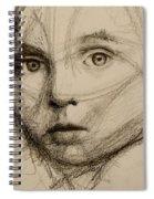 Study Of A Face Spiral Notebook