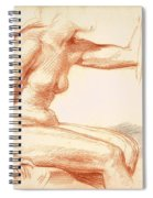 Study Of A Female Nude Seated Spiral Notebook
