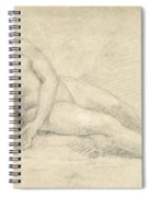 Study Of A Female Nude  Spiral Notebook