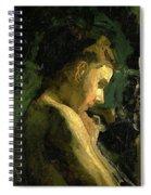 Study Of A Girl Head 1869 Spiral Notebook