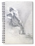 Study Of A Male Nude Spiral Notebook