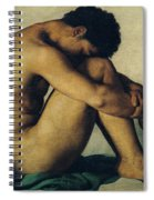 Study Of A Nude Young Man Spiral Notebook