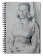Study Of A Seated Girl. Spiral Notebook
