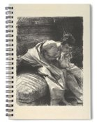 Study Of A Young Man, Seated ,john Singer Sargent Spiral Notebook