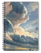 Study Of Clouds With A Sunset Near Rome Spiral Notebook
