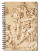 Study Of Diana With Her Nymphs And Hounds Spiral Notebook