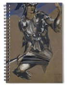 Study Of Perseus In Armour For The Finding Of Medusa Spiral Notebook