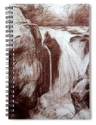 Study Of Rocks At Betws-y-coed Spiral Notebook