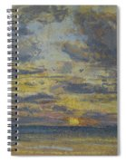 Study Of The Sky With Setting Sun Spiral Notebook
