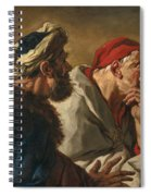 Study Of Three Figures Spiral Notebook