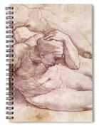 Study Of Three Male Figures Spiral Notebook