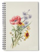 Study Of Wild Flowers Spiral Notebook