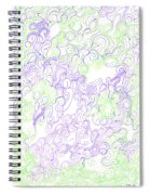 Study Purple And Green Spiral Notebook