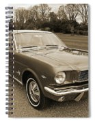 Stunning '66 Mustang In Sepia Spiral Notebook