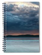 Stunning Cloudy Sunrise Seascape Spiral Notebook