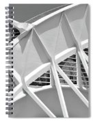 Stunning Structure - Black And White Spiral Notebook