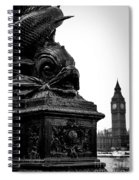 Sturgeon Lamp Post With Big Ben London Black And White Spiral Notebook