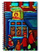St.viateur Bagel And Hockey Kids Spiral Notebook