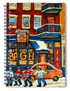 St.viateur Bagel Hockey Montreal Spiral Notebook