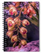 Stylized Orchids Spiral Notebook