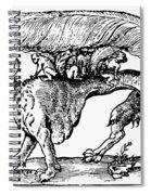 Su Monster (opossum), 1558 Spiral Notebook