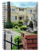 Suburban Antique House With Lion Hayward California 22 Spiral Notebook