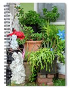 Suburban House With Front Yard Religious Shrine Hayward California 10 Spiral Notebook