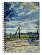 Suburban Landscape In Spring  Spiral Notebook