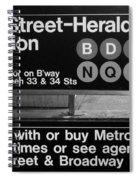 Subway 34 Street Spiral Notebook