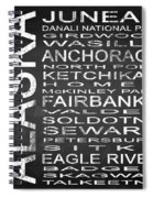 Subway Alaska State Square Spiral Notebook