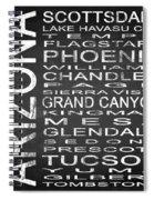 Subway Arizona State Square Spiral Notebook