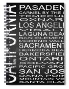 Subway California State 2 Square Spiral Notebook