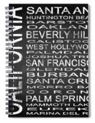 Subway California State Square Spiral Notebook