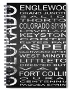 Subway Colorado State 2 Square Spiral Notebook