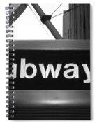 Subway Spiral Notebook