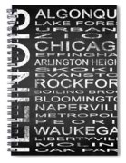 Subway Illinois State Square Spiral Notebook