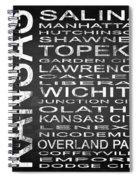 Subway Kansas State Square Spiral Notebook
