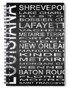 Subway Louisiana State Square Spiral Notebook