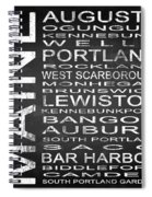 Subway Maine State Square Spiral Notebook