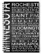 Subway Minnesota State Square Spiral Notebook