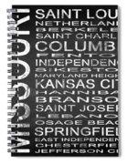 Subway Missouri State Square Spiral Notebook