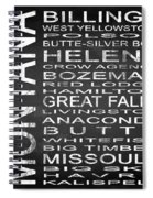 Subway Montana State Square Spiral Notebook