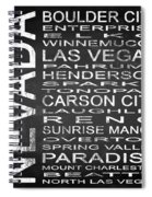 Subway Nevada State Square Spiral Notebook